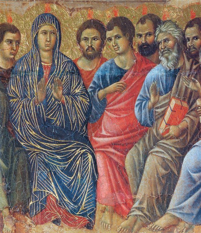 Duccio di Buoninsegna - Coronamento della Maestà (retro) - La Pentecoste, dettaglio - 1308-1311 - Tempera e oro su tavola - Museo dell'Opera del Duomo, Siena