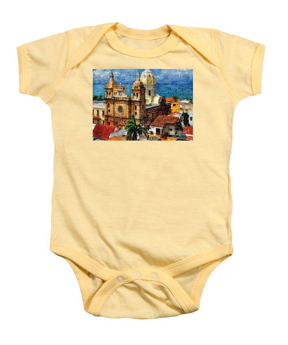 Baby Onesie - The Walled City In Cartagena De Indias Colombia