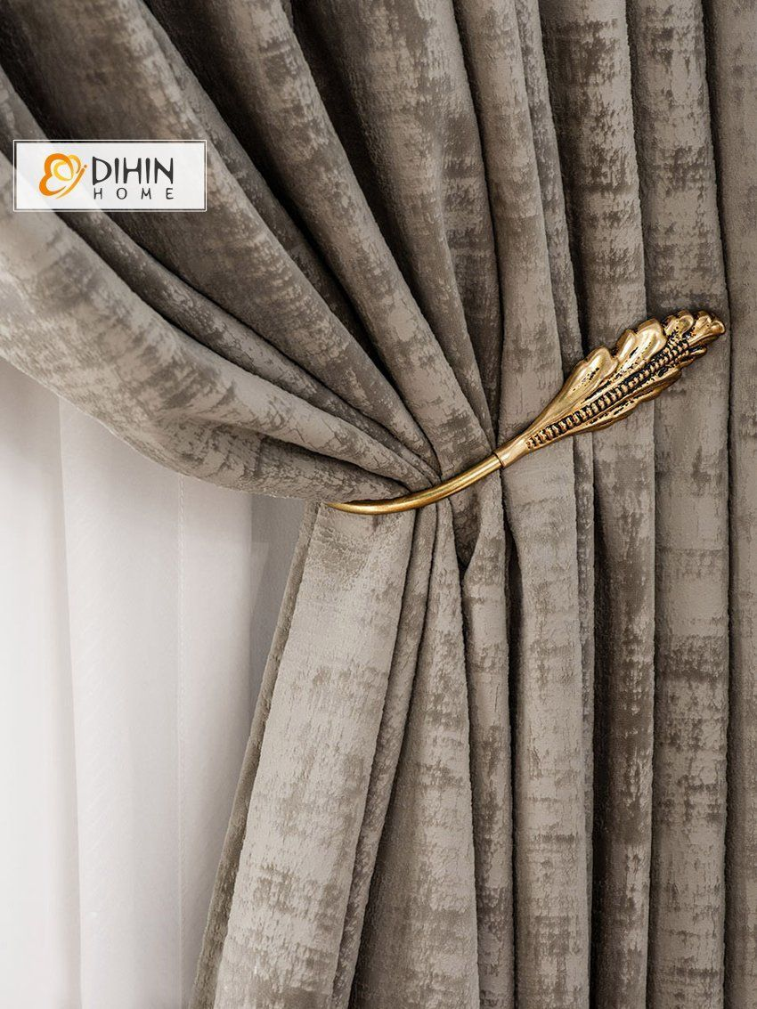 Dihin Home Modern Thick Fabric Luxury Curtain Blackout Curtains Grommet Window Curtain For Li Luxury Curtains Curtains Living Room Modern Curtains Living Room