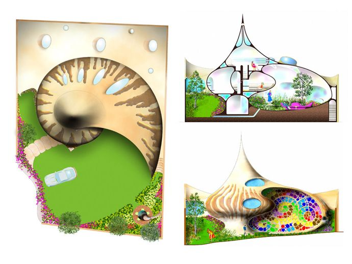Nautilus House Unique Shell Shaped House By Arquitectura Organica Shell House Organic Architecture Unusual Homes