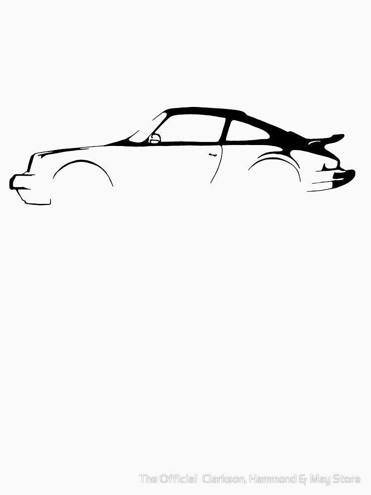 'Porsche 911 Silhouette' T-Shirt von The Official Clarkson