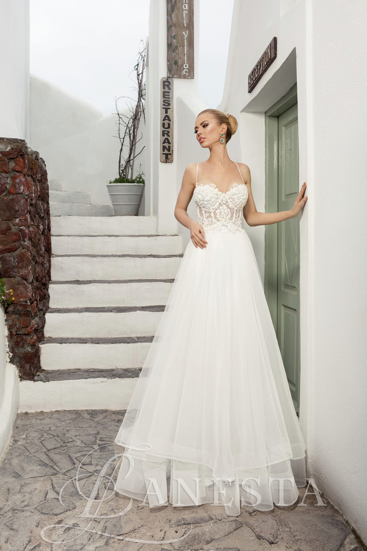 62d034983f Blash Rendelhető, Kölcsönzési díja: 120.000,- Ft Abroncs nélküli esküvői  ruha csipke felsőrésszel.