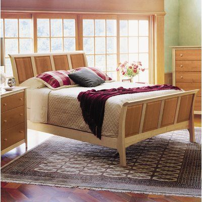 Copeland Furniture Sarah Sleigh Bed Color Maple And Cherry Size