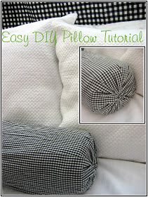easy DIY no sew pillow using old towels rubber bands a paper towel tube and a piece of fabric! & try this for a neck travel pillow - make case and fill with spare ... pillowsntoast.com