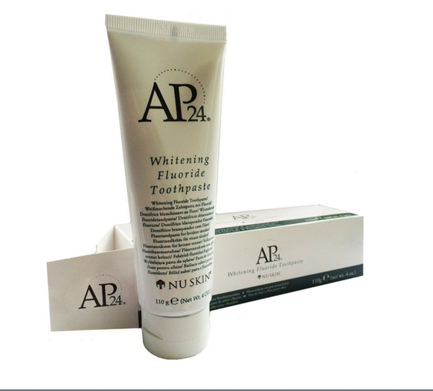 Ap24 whitening fluoride toothpaste brightens and whitens