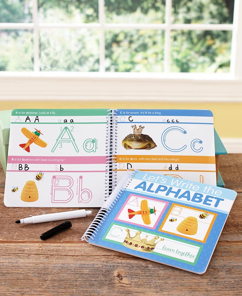 Write and Erase Alphabet or Numbers Books