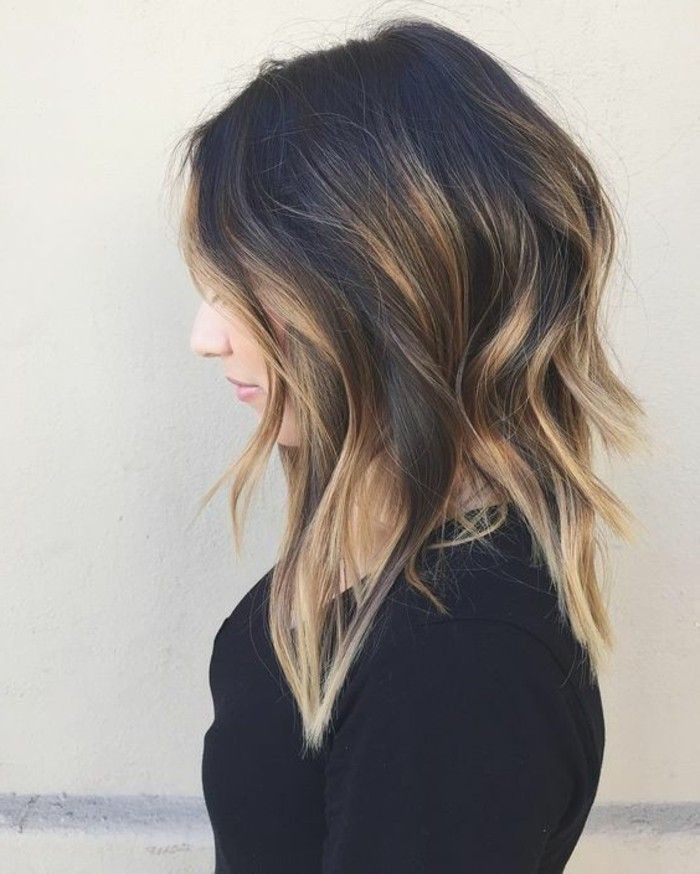 Coupe degrade sur cheveu long
