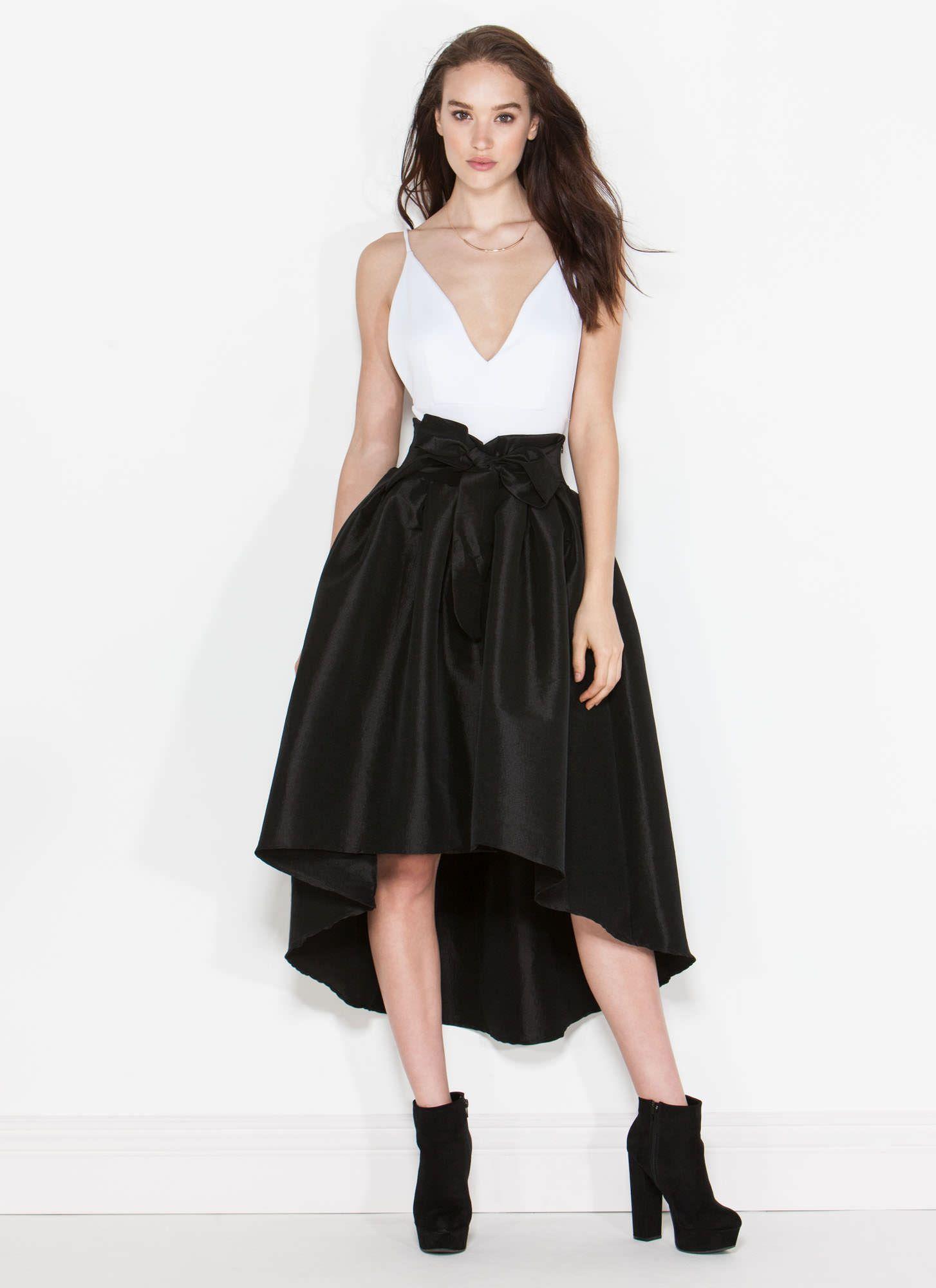 Taffeta Pleated High-Low Skirt | UrbanOG | Cemi Ceri Style ...