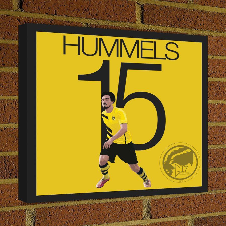 Square Canvas Wrap Mats Hummels Soccer Art Print Dortmund Soccer ...