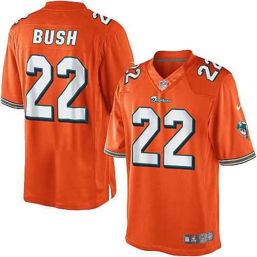 Youth Nike Miami Dolphins #22 Reggie Bush Limited Alternate Orange  for cheap