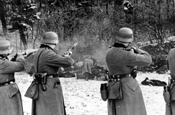 Execution of 56 Polish civilians in Bochnia during the German takeover of Poland, 18 December 1939