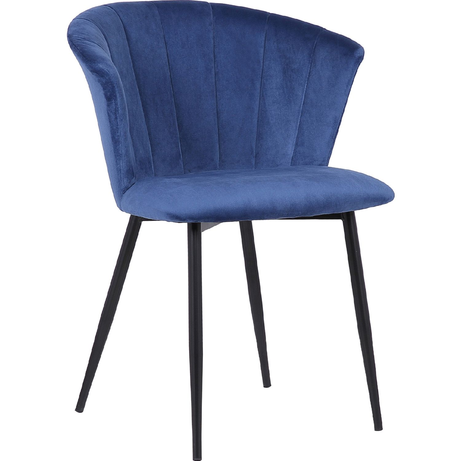 Armen Living Lcluchblblue Lulu Dining Chair Channel Tufted Blue