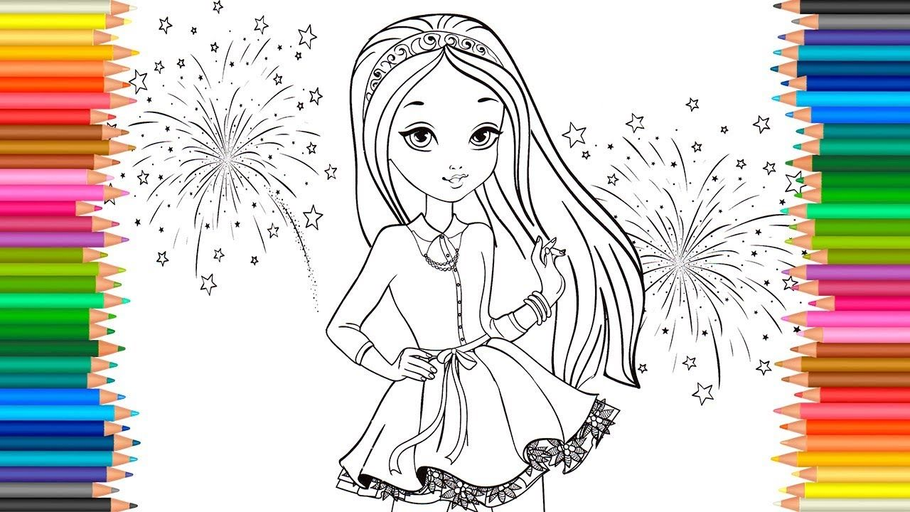 Beautiful Girl Coloring Pages Coloring Book Video For Children Learn C Coloring Books Coloring Pages Coloring Pages For Girls