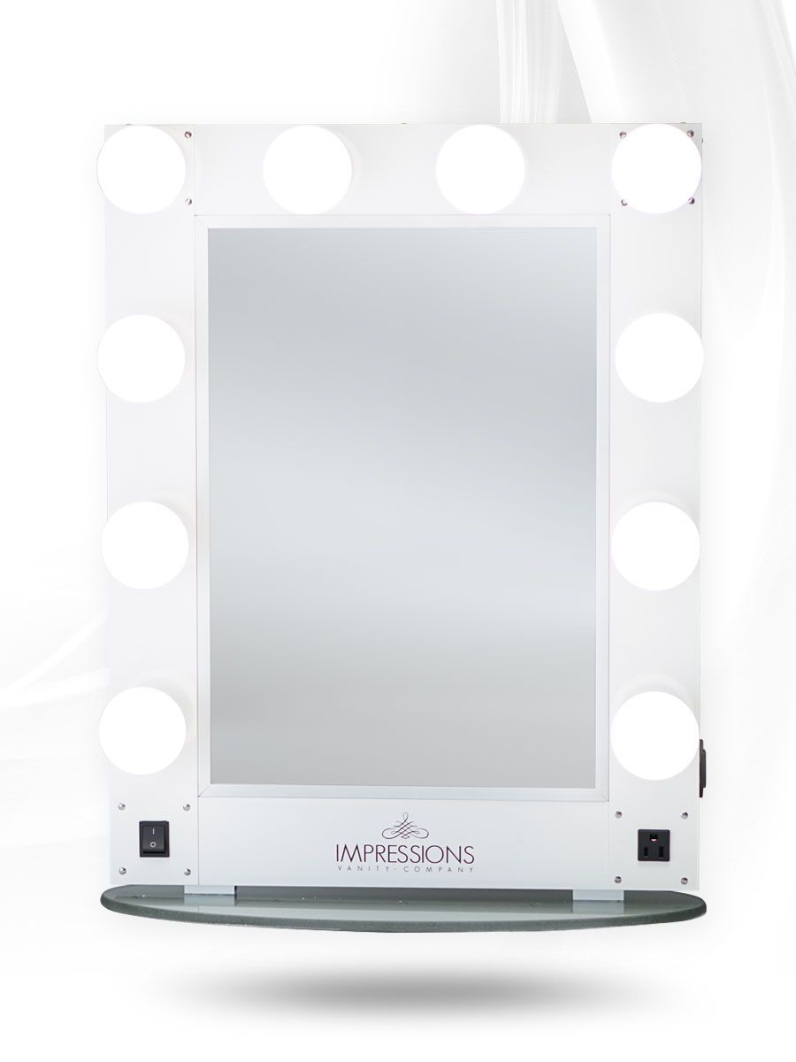 Impressions Vanity Hollywood Glamour Vanity Mirror White Lit