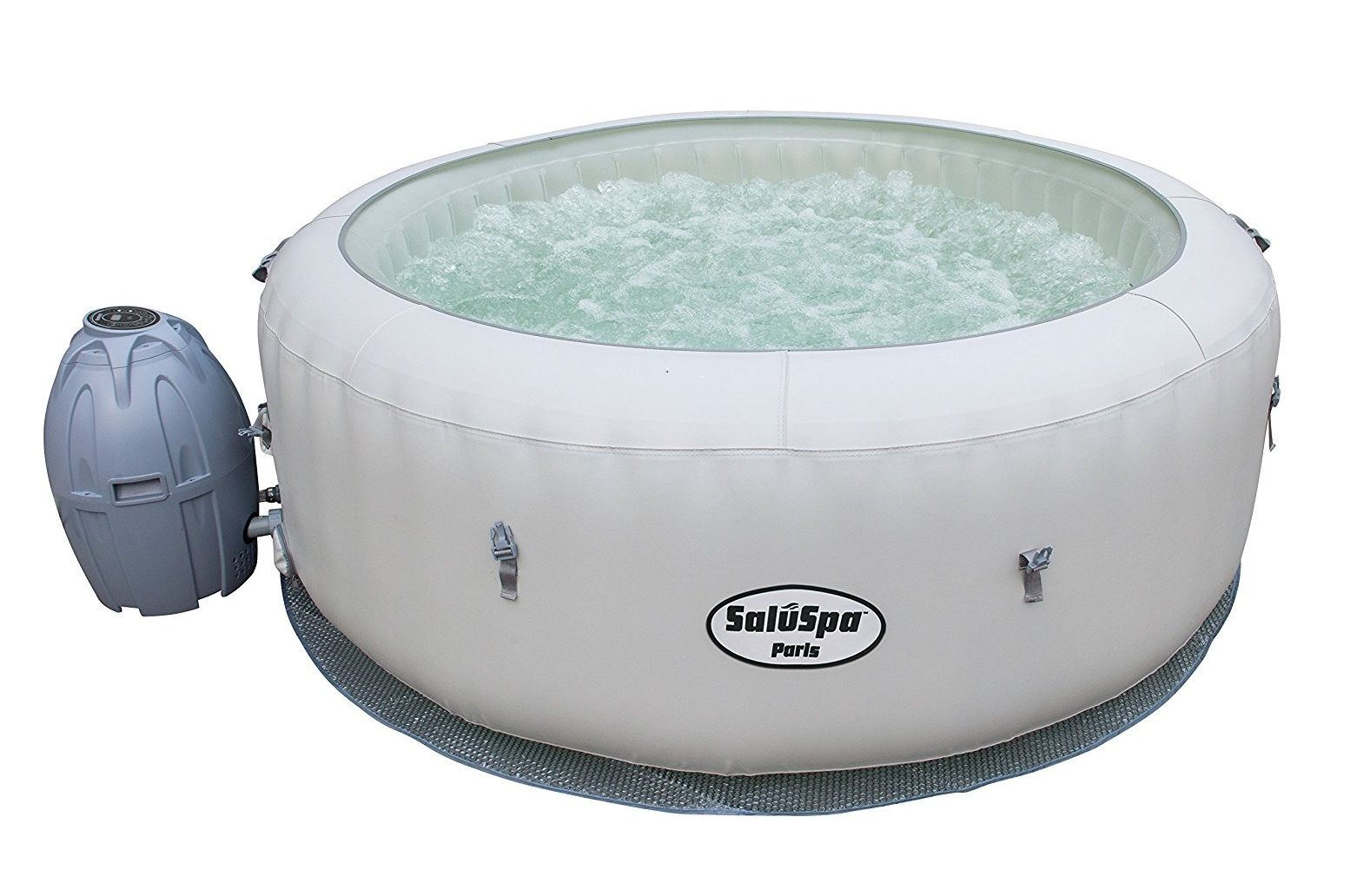 SaluSpa Paris AirJet Inflatable Hot Tub w/ LED Light Show | Shower ...