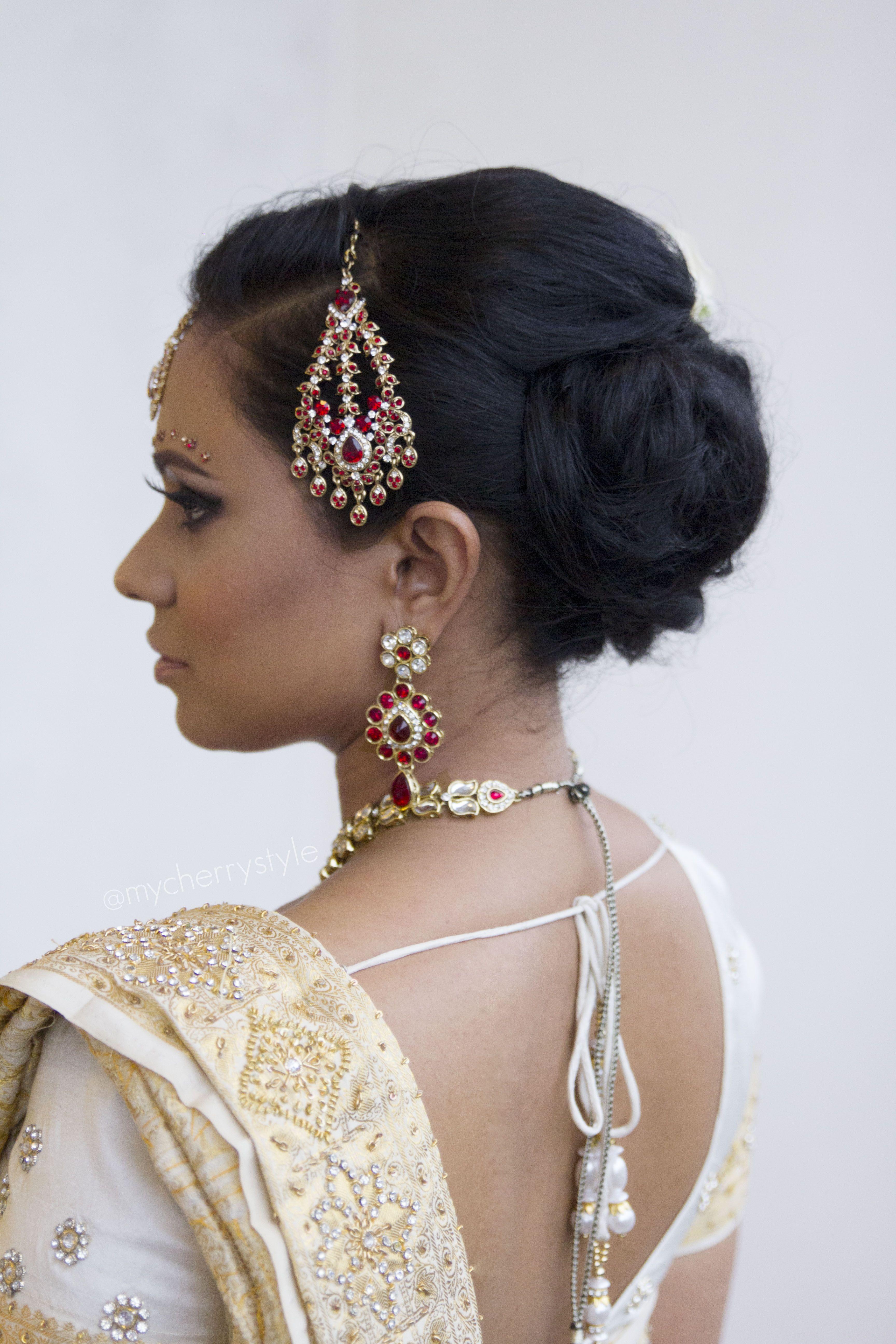 Modern Indian bridal hairdo/updo