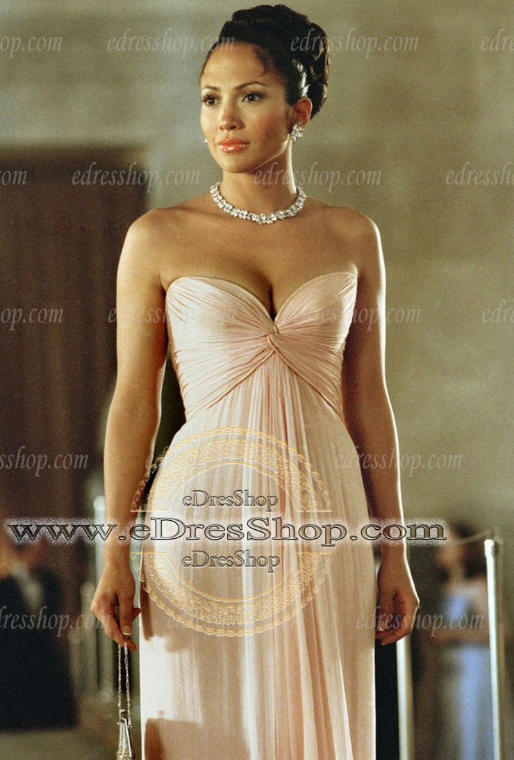 Maid in Manhattan Jennifer Lopez Sweetheart pink Celebrity Evening Dress