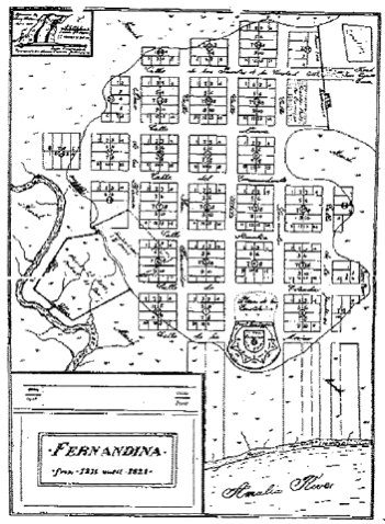 The original map of Old Town, Amelia Island, Florida | Old Town ...