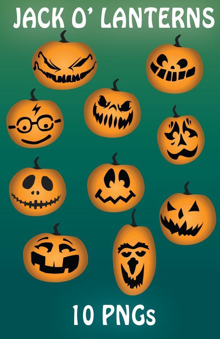 Jack O Lantern Clip Art Halloween Pumpkins Jack O Lantern Fall Halloween Crafts Clip Art