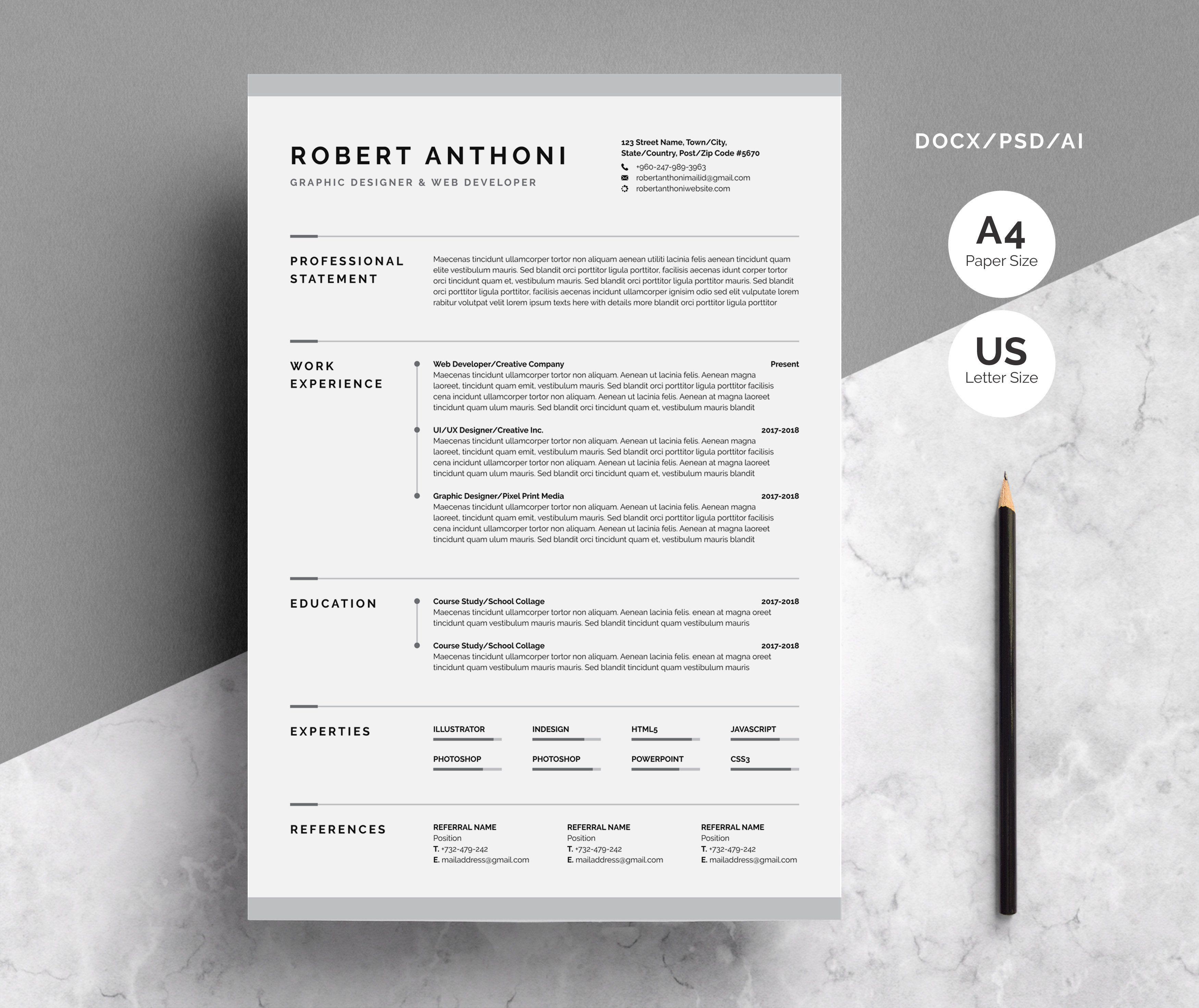 Creative Resume Cv Template Creative Resume Cv Template Creative Resume Templates