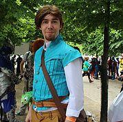 Flynn Rider (Tangled) cosplay.  Image credit: April Wilson/ Cosplay City Magazine.