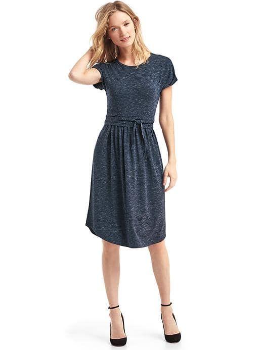 Gap Modal Spacedye Tie Dress In Navy Dresses Gap Dress