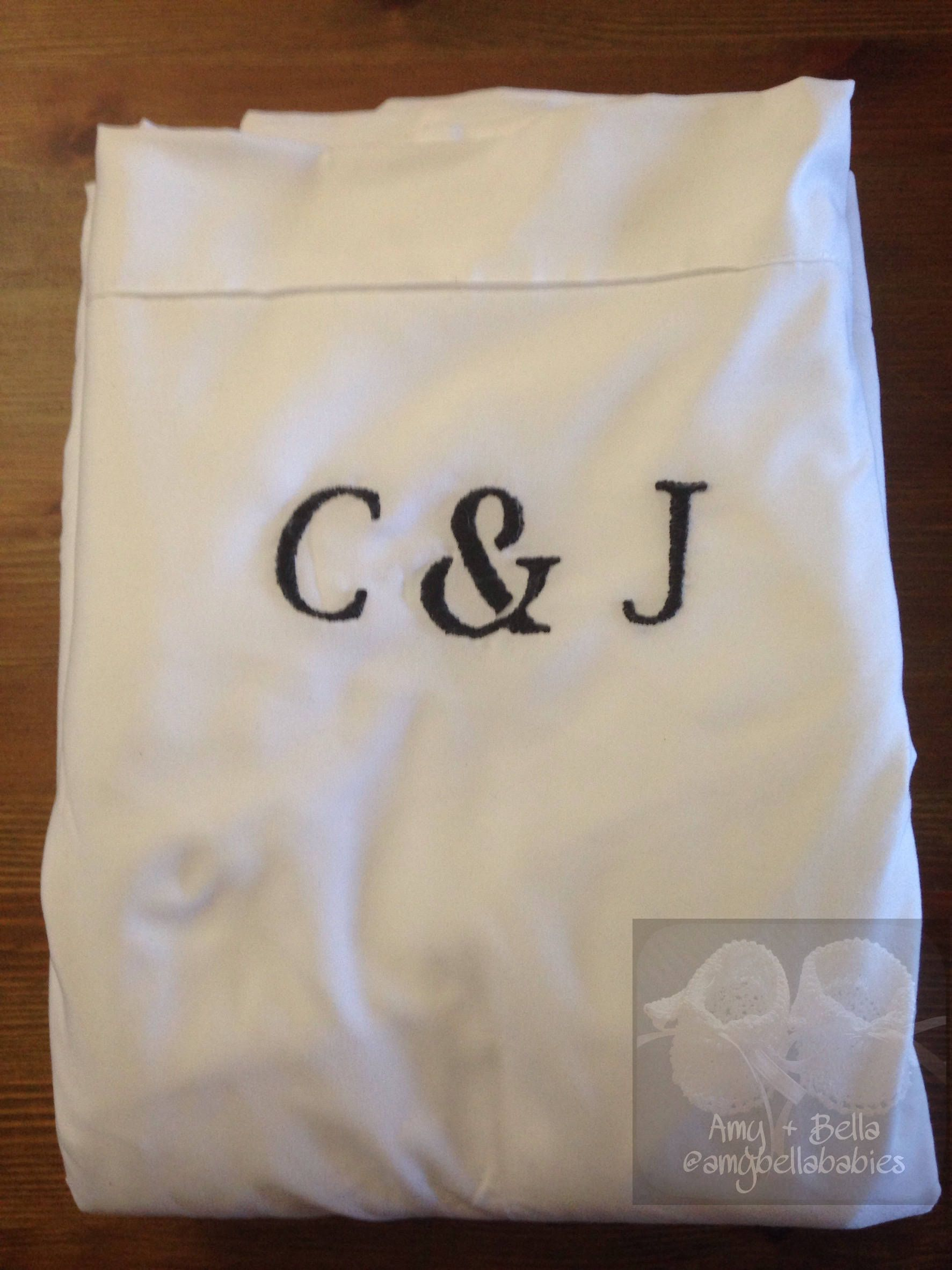 Embroidered Personalized Bed Sheet Set