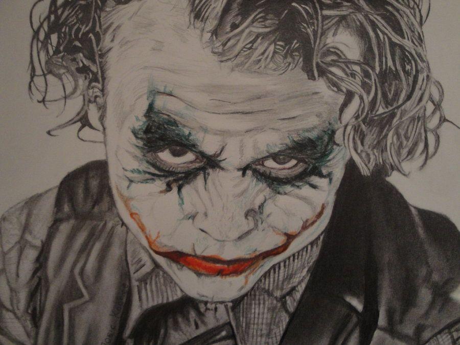 Joker Scribble Drawing : The joker pencil drawing by jleonardk viantart on