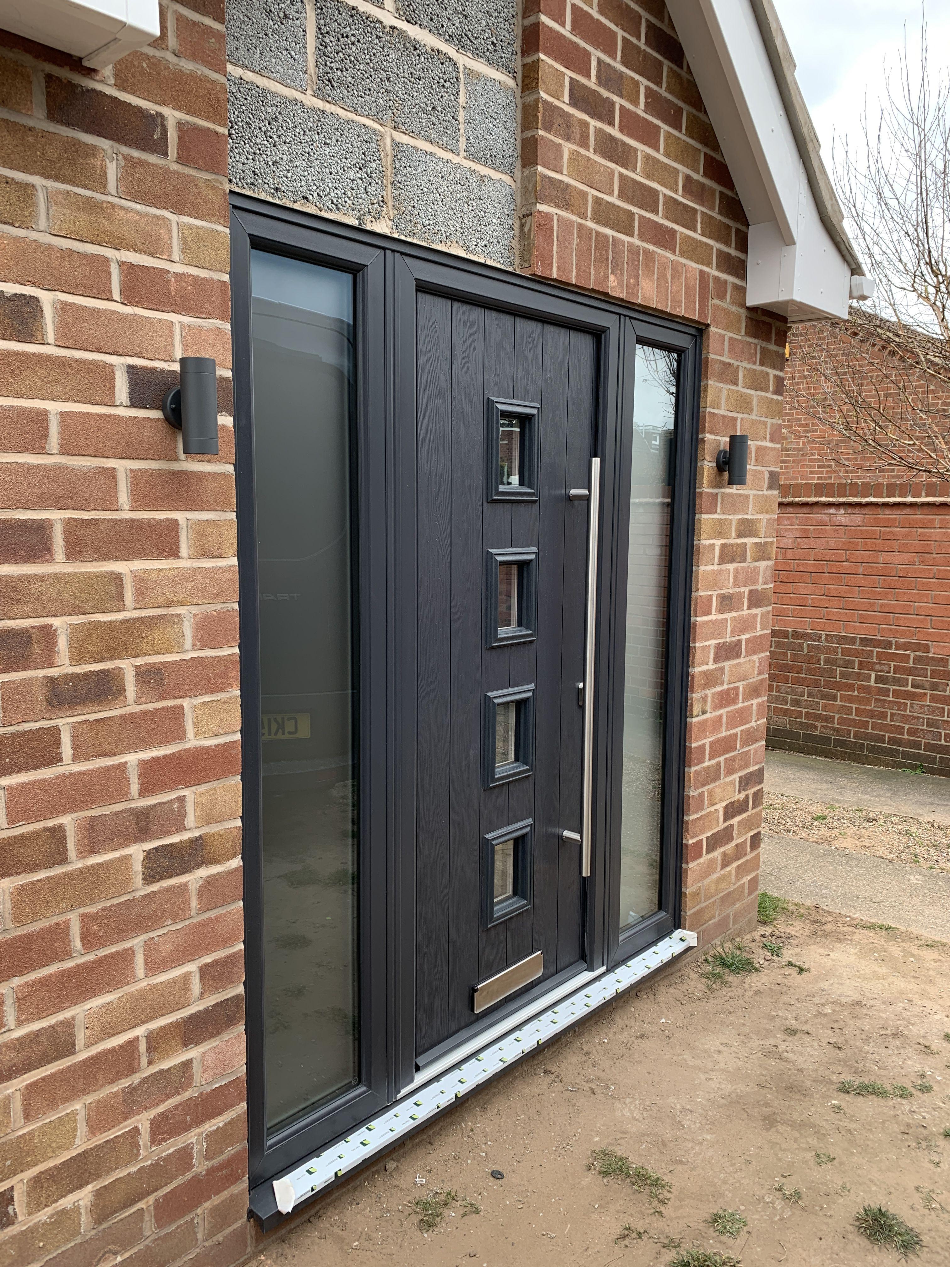 Beautiful Solid Core Door Installed In Nottingham Last Week In Anthracite Grey Compositedoor Compositedoors Frontdoors House Exterior Composite Door Doors