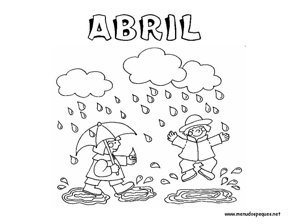 Colorear Meses Del Ano 04 Abril Paginas Para Colorear Caratulas Escolares Dibujos