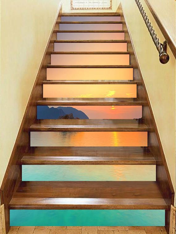 3d Sunset Beach 57 View Staircase Stairway Stairs Risers