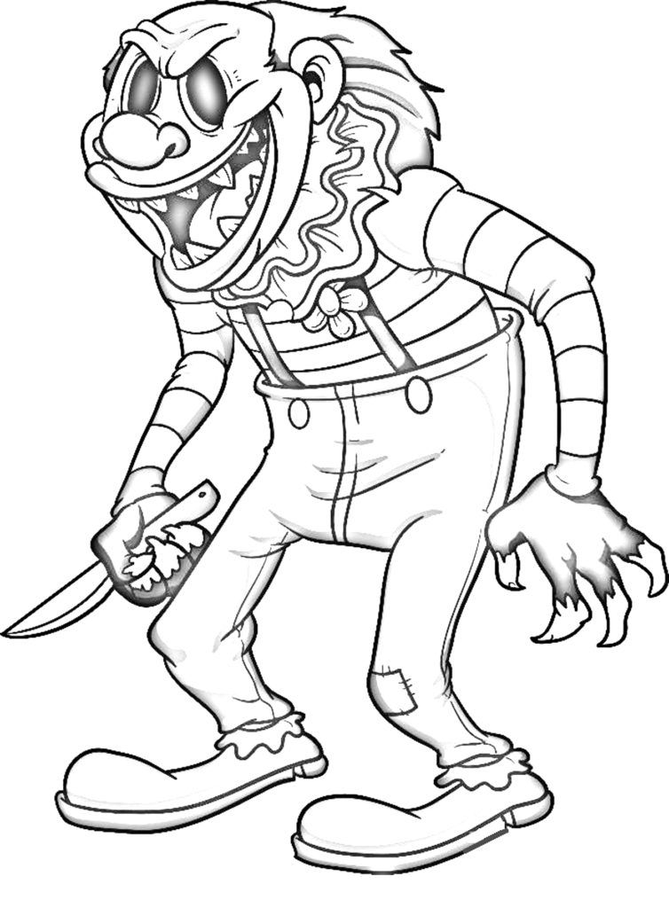 41++ Scary monster coloring pages ideas in 2021