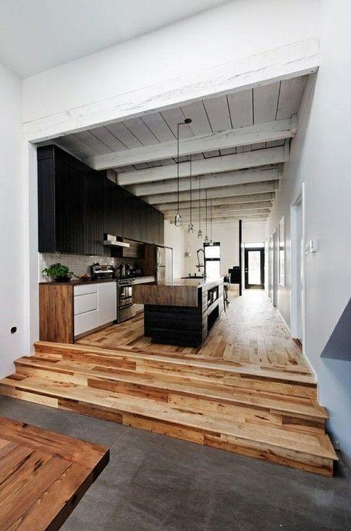 Kitchen Rustic Style Wohnzimmer Pinterest Traumhäuser - wohnzimmer küche zusammen