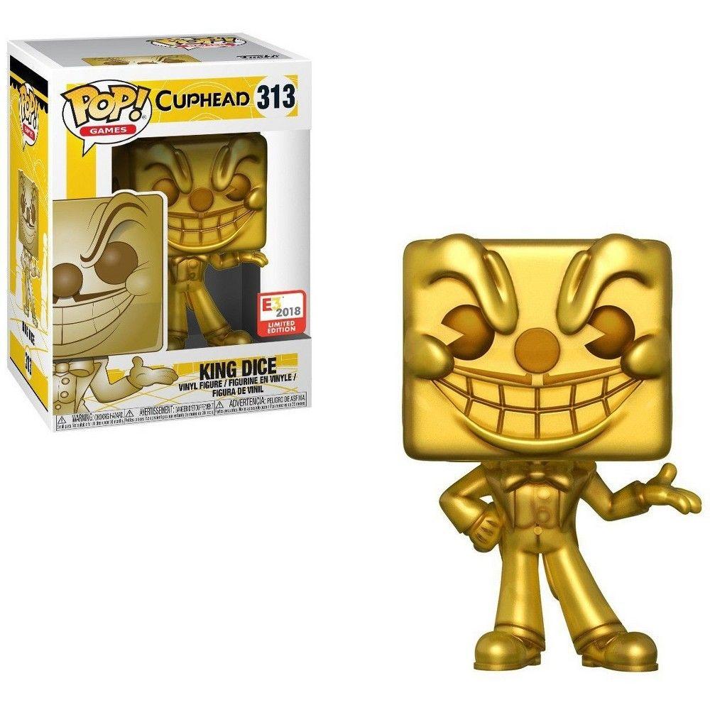 Cuphead Funko Pop Games King Dice Vinyl Figure 313 Gold Limited Edition In 2020 Pop Figurine Vinyl Figures Funko