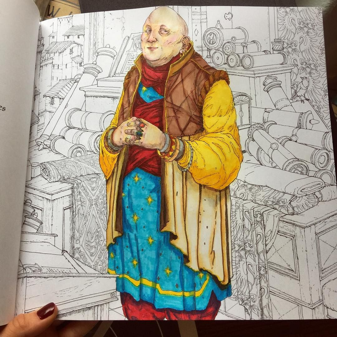 """Thwarting you has never been my primary ambition, I promise you. Although, who doesn't like to see their friends fail now and then."" Lord Varys. ~*~*^*~*~^*~*~*~^ ✨When I don't draw my own creations, I color in coloring books specifically the #gameofthronescoloringbook ✨ #myfavoret #lordvarys #thespider #quoteoftheday #sundayfunday #feellikeakidagain #coloringbook #havingfun #drawing #colorful #art #dayoffwork #relaxingday #prismacolorart #prismacolorpencils #watercolorpencils"