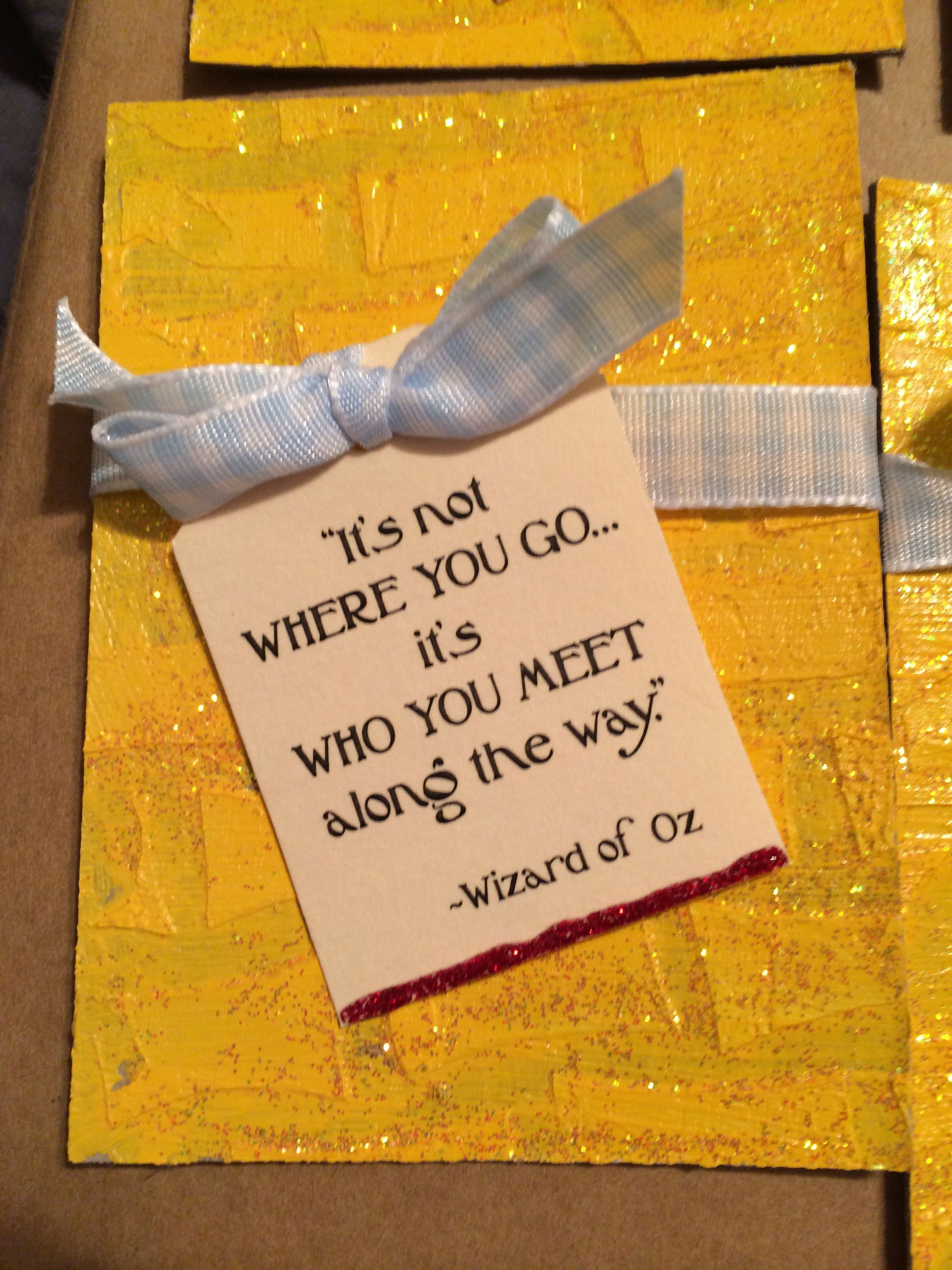 Wizard of Oz | Just Happy Things | Pinterest | Girls camp, Brick ...