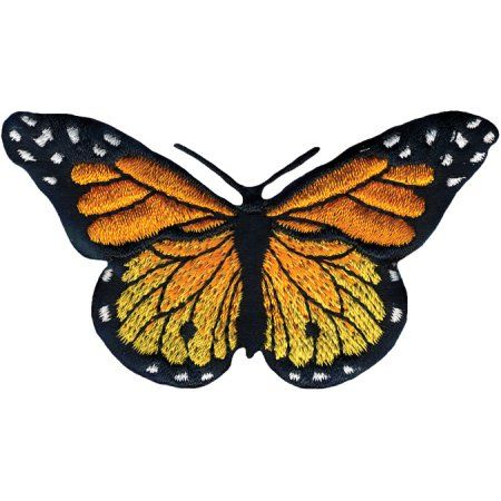 Wrights Iron-On Appliques -Monarch Butterfly 3X1-3/4 1/Pkg Multi-Colored