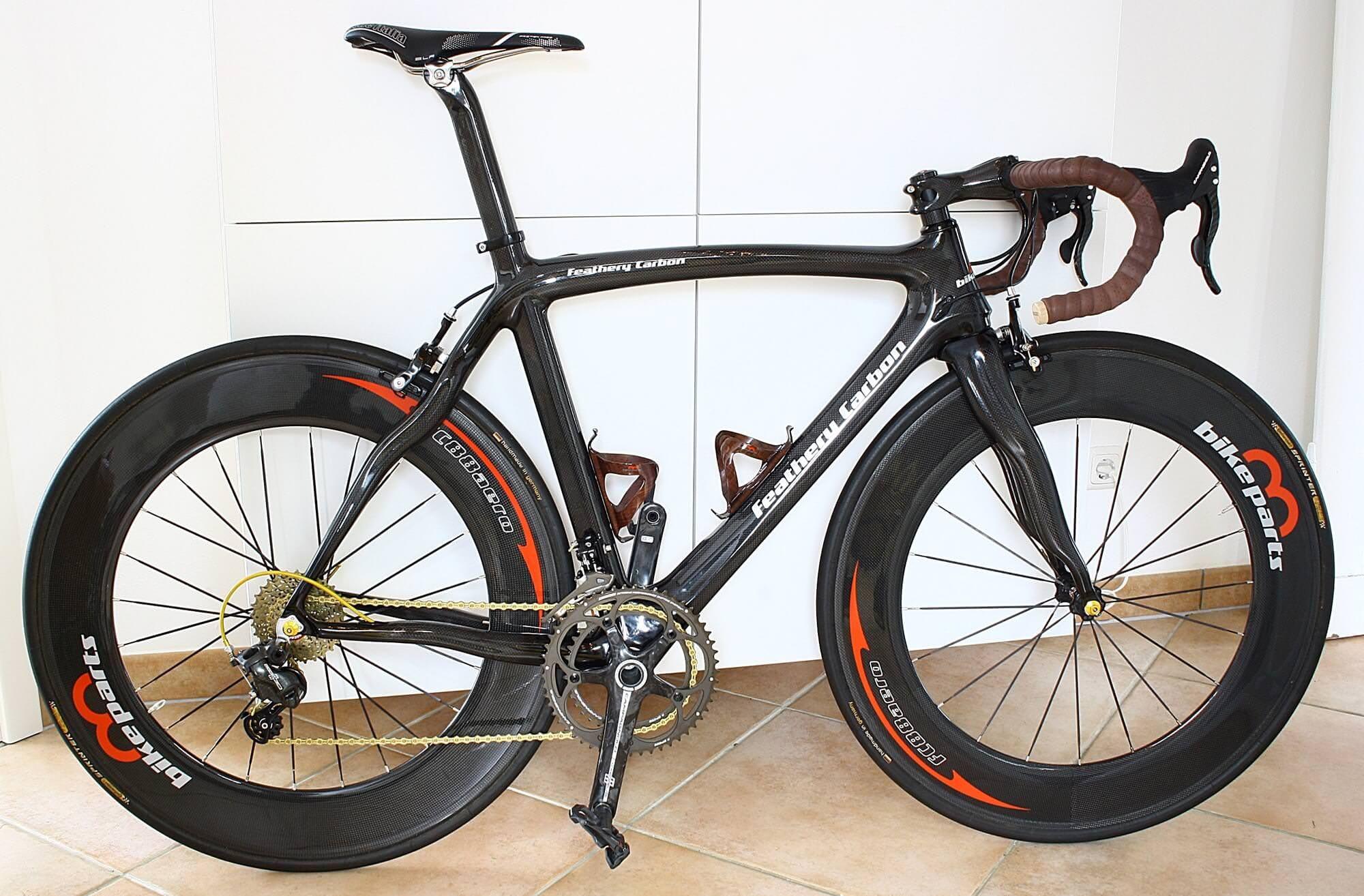 Feathery Carbon Rennrad Rahmen, Gabel und Sattelstütze 54cm, 3k klar ...