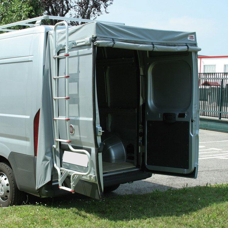 Camping Shower Camper Van Rear Doors Fiamma Van Rear Door Cover Awning Fiat Ducat Mini Camper Camper Van Conversion Diy Camper Organization Travel Trailers