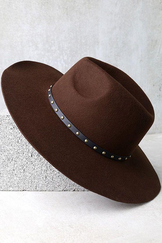 Amuse Society Hayworth - Dark Brown Hat - Felt Hat - Wool Hat - Wide Brim  Fedora -  54.00 2a3c117abc6