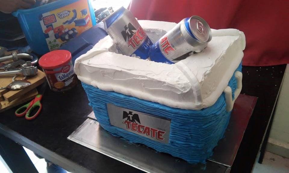 Hielera Cake Tecate Beer Cerveza Pasteles In 2019 Pasteles