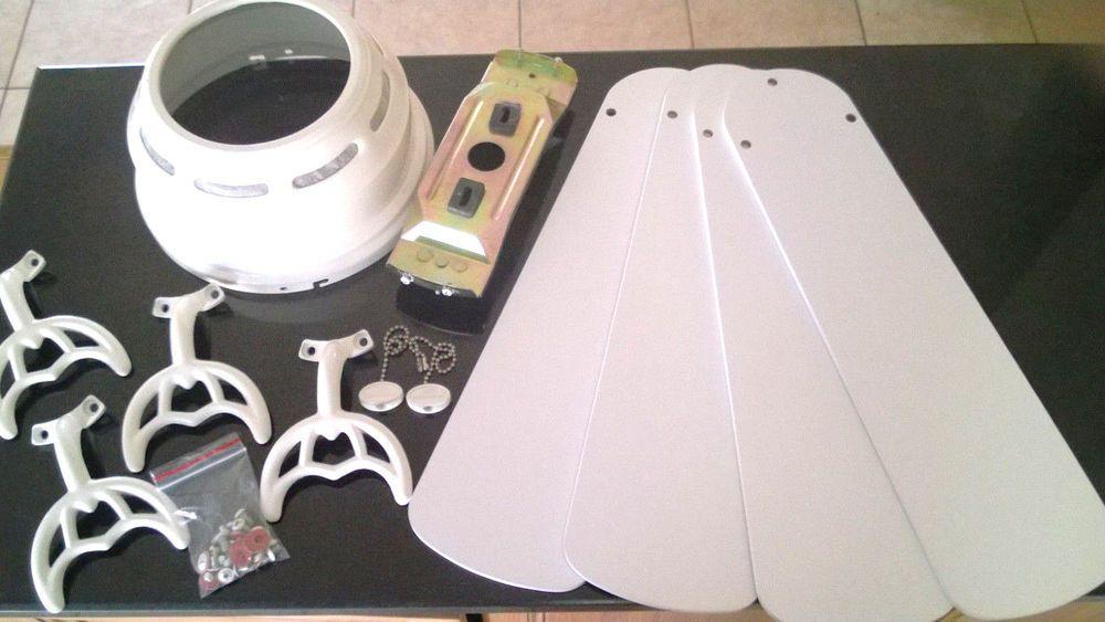 42 Harbor Breeze White Ceiling Fan Replacement Parts Blades Arms Canopy Mount Harborbreeze