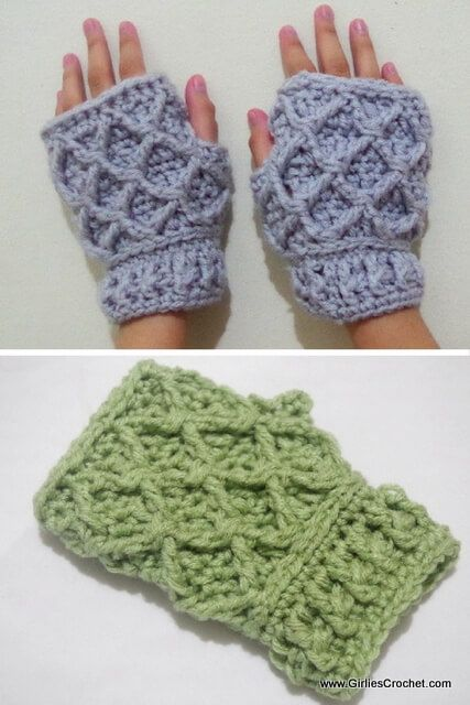 free crochet pattern for Rheema Fingerless Mitten | Free crochet ...