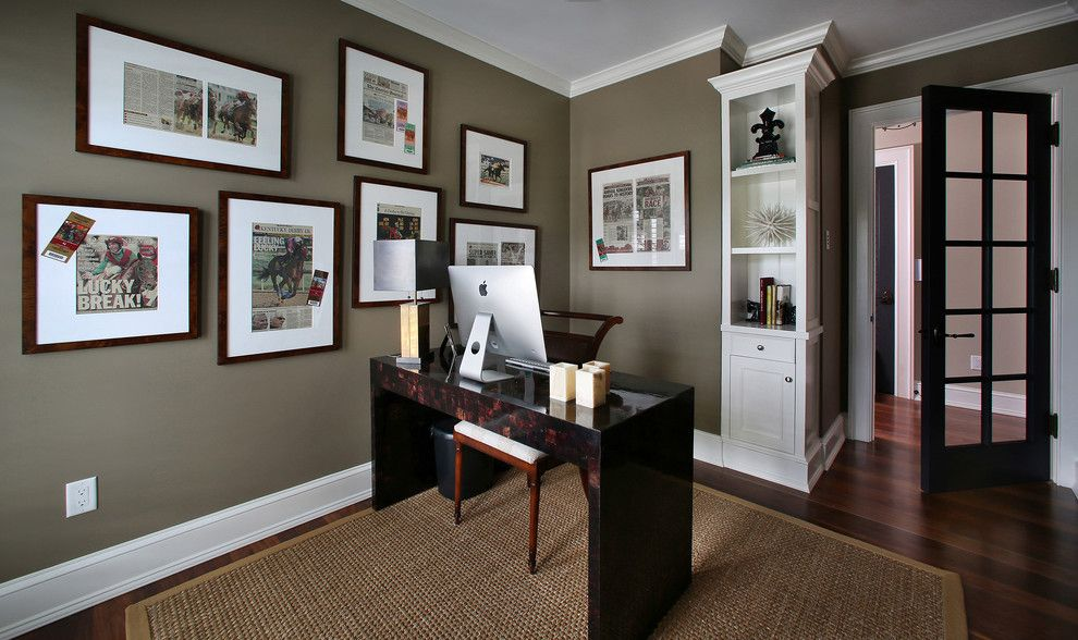 decorative apartment paint colors in home office tropical design