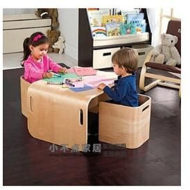 Childrens tables and chairs Solid wood furniture learning game