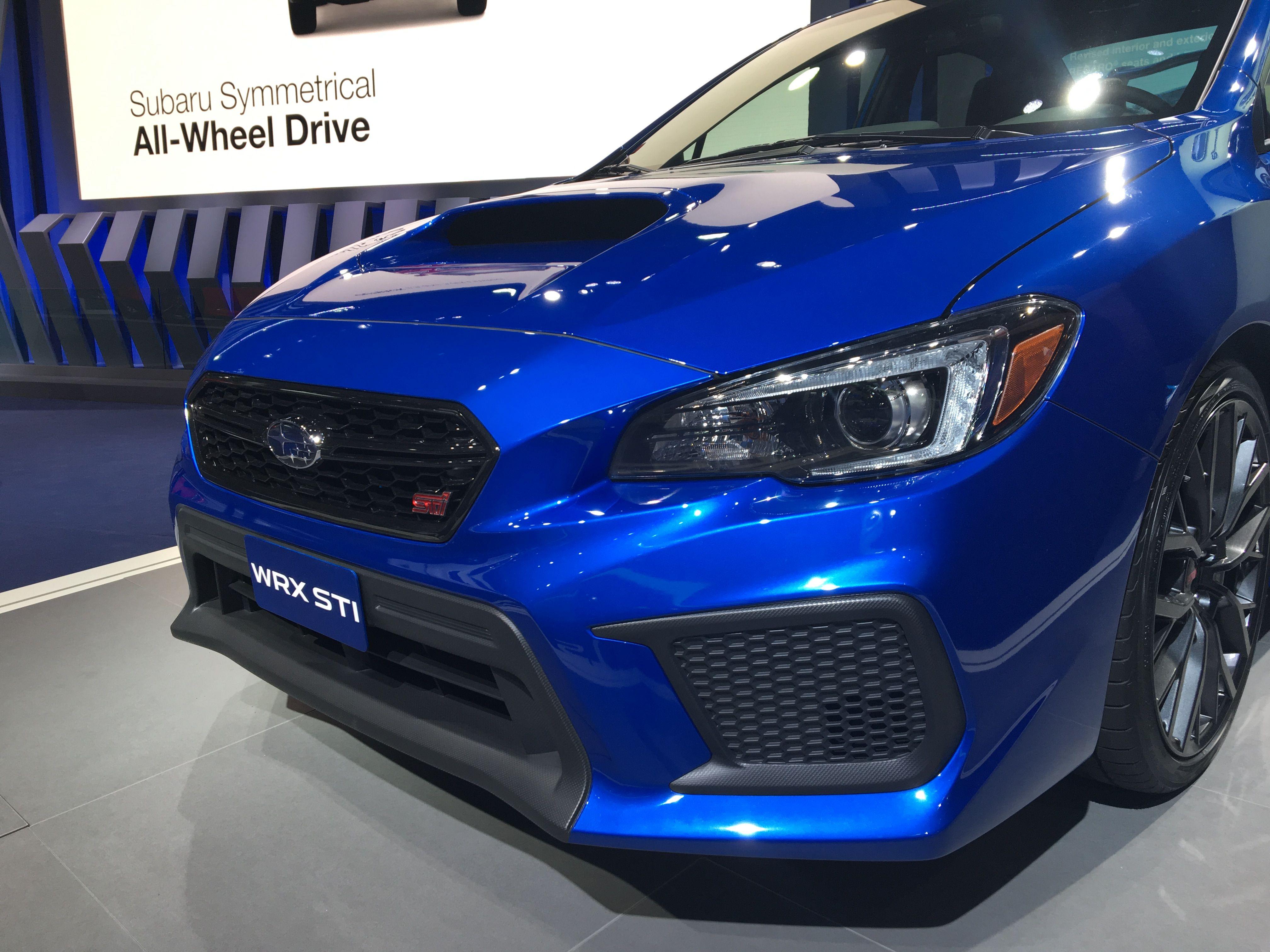 The newly redesigned 2018 subaru wrx sti
