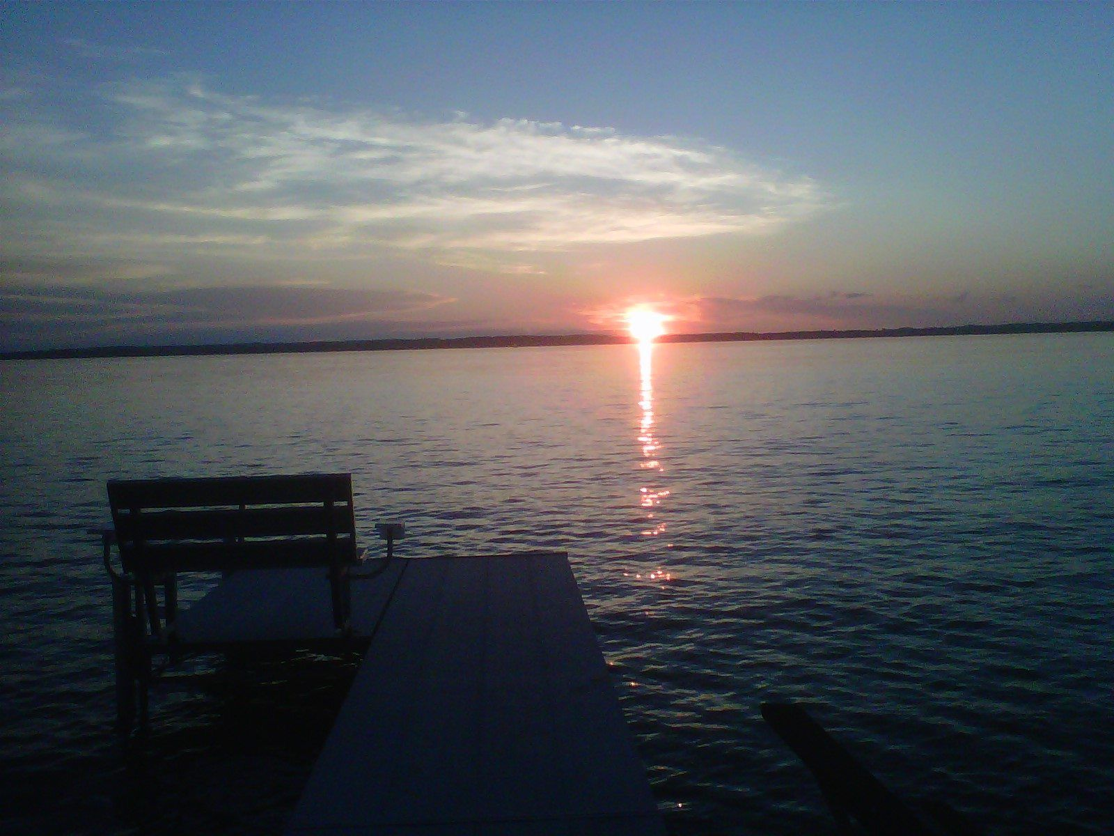Looking over the water makes me pause and feel the awe of nature's beauty. It makes me feel like I'm part of a bigger picture, and it relaxes me and changes my perspective for the better. It never fails to improve my mood!  Submitted by Carolyn S.