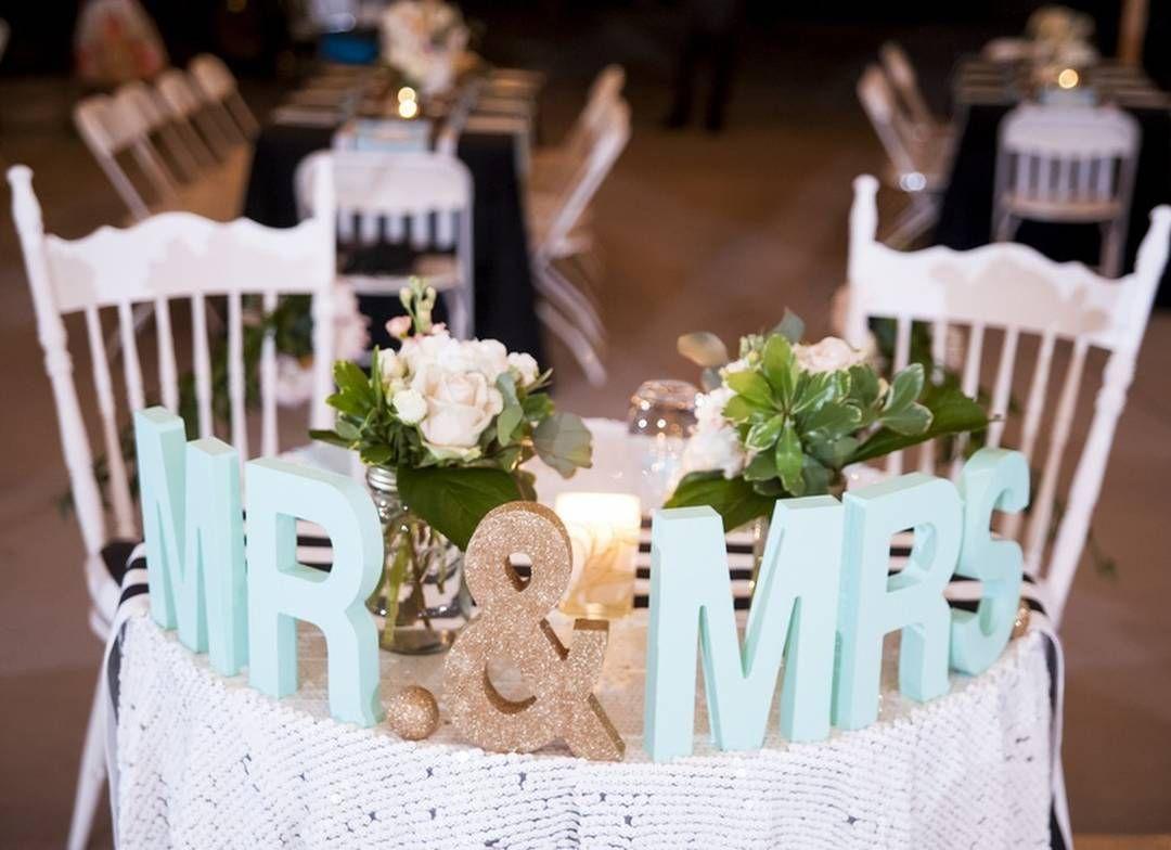 Such a cute decor idea for the sweetheart table! by @brashlerphoto #wedding #weddingdecor #sweethearttable