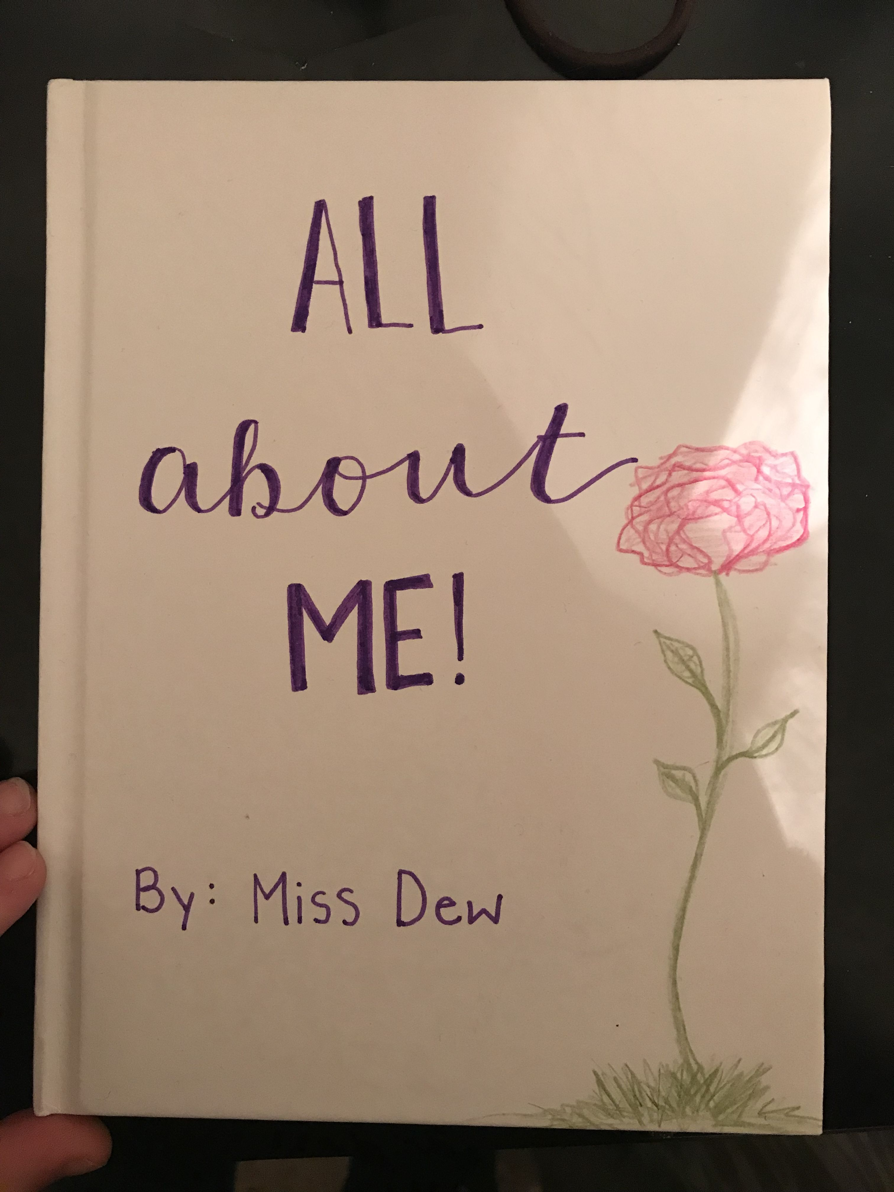 Create Your Own All About Me Books Small Large Group Read