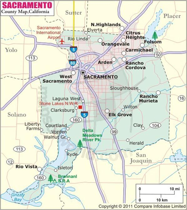 Sacramento County Map Map Of Sacramento County California